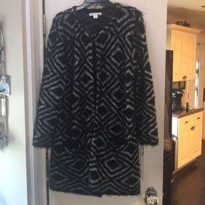 August Silk sweater jacket.